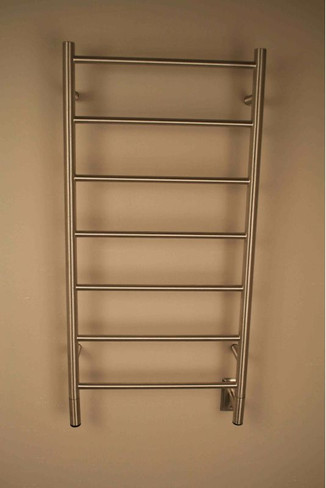 """Jeeves Collection - Model F Straight - Brushed - Heated Towel Rack 20.5"""" x 41"""""""