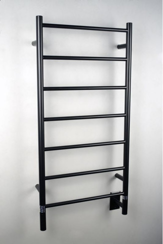 """Jeeves Collection - Model F Straight - Oil Rubbed Bronze - Heated Towel Rack 20.5"""" x 41"""""""