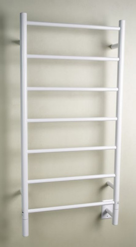 """Jeeves Collection - Model F Straight - White - Heated Towel Rack 20.5"""" x 41"""""""