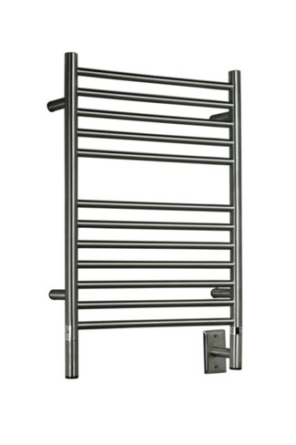 """Jeeves Collection - Model E Straight - Brushed - Heated Towel Rack 20.5"""" x 31"""""""