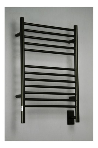"""Jeeves Collection - Model E Straight - Oil Rubbed Bronze - Heated Towel Rack 20.5"""" x 31"""""""