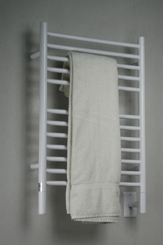 """Jeeves Collection - Model E Straight - White - Heated Towel Rack 20.5"""" x 31"""""""