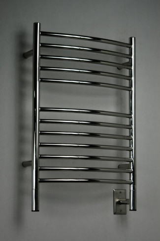 """Jeeves Collection - Model E Curved - Polished - Heated Towel Rack 20.5"""" x 31"""""""