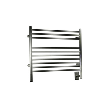 """Jeeves Collection - Model K Straight - Brushed - Heated Towel Rack 29.5"""" x 27"""""""