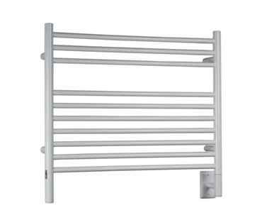 """Jeeves Collection - Model K Straight - White - Heated Towel Rack 29.5"""" x 27"""""""