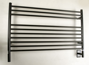 """Jeeves Collection - Model L Straight - Oil Rubbed Bronze - Heated Towel Rack 39.5"""" x 27"""""""