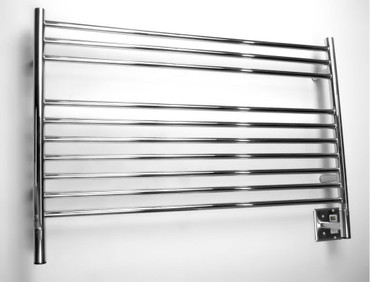 """Jeeves Collection - Model L Straight - Polished - Heated Towel Rack 39.5"""" x 27"""""""