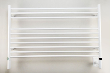 """Jeeves Collection - Model L Straight - White - Heated Towel Rack 39.5"""" x 27"""""""