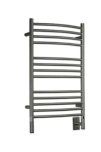 """Jeeves Collection - Model C Curved - Brushed - Heated Towel Rack 20.5"""" x 36"""""""