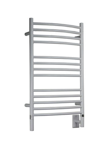 """Jeeves Collection - Model C Curved - White - Heated Towel Rack 20.5"""" x 36"""""""