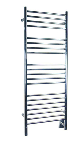 """Jeeves Collection - Model D Straight - Polished - Heated Towel Rack 20.5"""" x 53"""""""