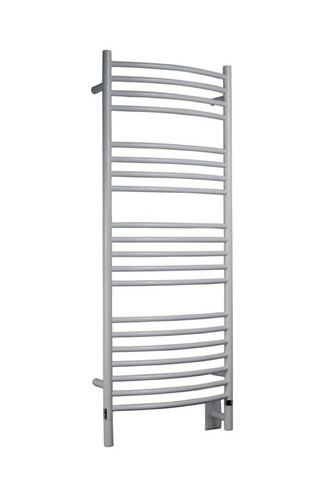 """Jeeves Collection - Model D Curved - White - Heated Towel Rack 20.5"""" x 53"""""""