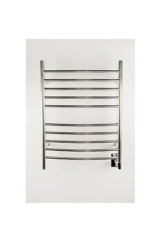 """Radiant Collection - Curved Hardwired Polished - Heated Towel Rack 24"""" x 32"""""""