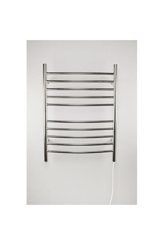 """Radiant Collection - Curved Plug-In Brushed - Heated Towel Rack 24"""" x 32"""""""
