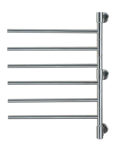 """Swivel Collection - Model Jack D006 - Brushed - Heated Towel Rack 21"""" x 29"""""""
