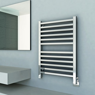 """Quadro Collection - Model Q 2033 - Brushed - Heated Towel Rack 20"""" x 33"""""""