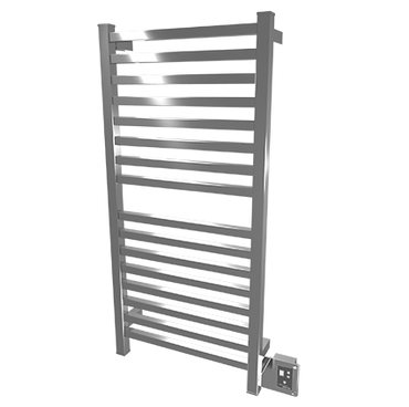 """Quadro Collection - Model Q 2042 - Brushed - Heated Towel Rack 20"""" x 42"""""""