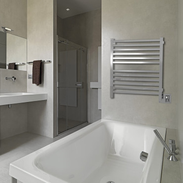 """Quadro Collection - Model Q 2833 - Polished - Heated Towel Rack 28"""" x 33"""""""