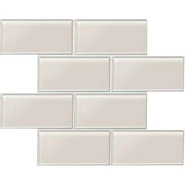 "Amity - Taupe Subway Glass Tile 3"" x 6"""