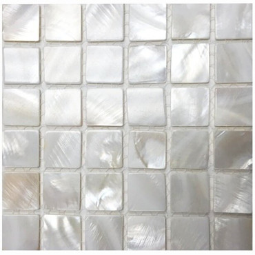 Mother of Pearl Super White Pearl Mosaic 7/8x7/8 on 12x12 Sheet (PWJ10-2020)