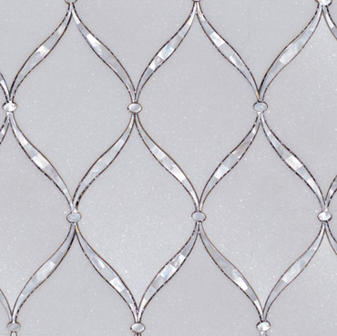 Manhattan Thassos & Mother of Pearl Polished Verona Weave (MB157)