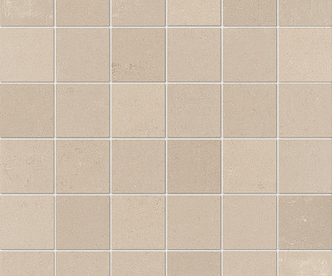 """Re_Micron Collection - Almond Natural Mosaic 2"""" x 2"""" On 12"""" x 12"""" Sheet"""