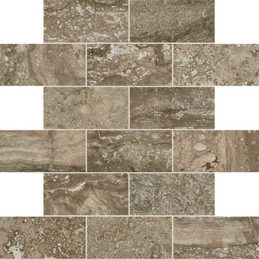 Exquisite Collection - Mink Brick Joint Mosaic 2x4 On 12x12 Sheet