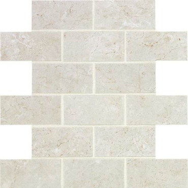 Florentine Collection - Argento Matte Porcelain Brick-Joint Mosaic 2x4 On 12x12 Sheet