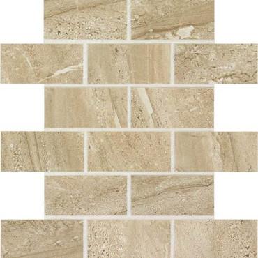 Florentine Collection - Nociolla Matte Porcelain Brick-Joint Mosaic 2x4 On 12x12 Sheet
