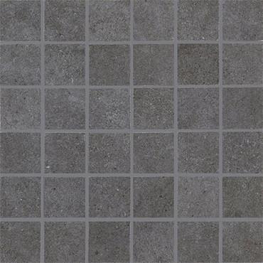 Haut Monde Collection - Empire Black Polished Porcelain Mosaic 2x2 On 12x12 Sheet