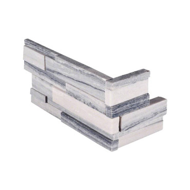 Ledger Panel Alaska Gray 3D Honed Panel Corner 6x18x6 (LPNLMALAGRY618COR-3DH)