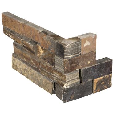 "Ledger Panel California Gold Splitface ""L"" Corner 6x18x6 (LPNLSCALGLD618COR)"