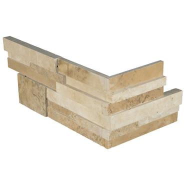 """Ledger Panel Casa Blend 3D Honed """"L"""" Corner 6x12x6 (LPNLTCASBLE618COR-3DH)"""