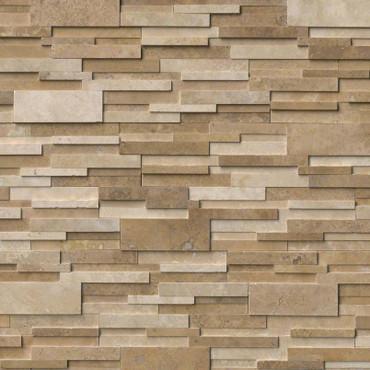 Ledger Panel Casa Blend 3D Honed Panel 6x24 (LPNLTCASBLE624-3DH)