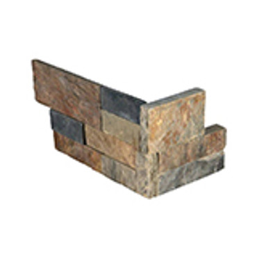 """Ledger Panel Gold Rush Splitface """"L"""" Corner 6x12x6 (LPNLSGLDRUS618COR)"""