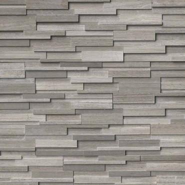 Ledger Panel Gray Oak 3D Honed Panel 6x24 (LPNLMGRYOAK624-3DH)