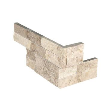 "Ledger Panel Roman Beige Splitface ""L"" Corner 6x12x6 (LPNLTROMBEI618COR)"