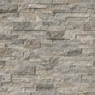 Ledger Panel Silver Travertine Splitface Panel 6x24 (LPNLTSIL624)