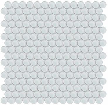 Element Ice Penny Round Glass Mosaics (35-098)