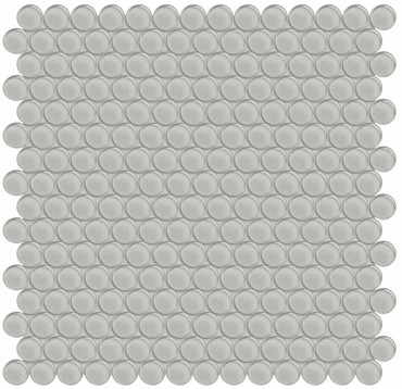 Element Mist Penny Round Glass Mosaics (35-099)