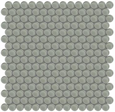 Element Smoke Penny Round Glass Mosaics (35-100)