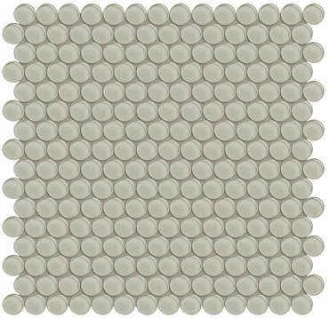 Element Earth Penny Round Glass Mosaics (35-101)