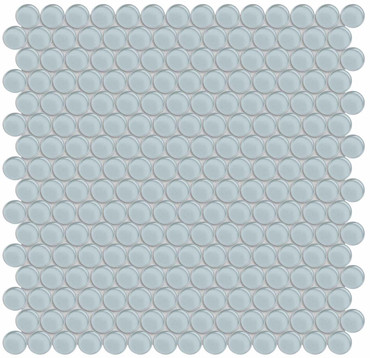 Element Skylight Penny Round Glass Mosaics (35-105)