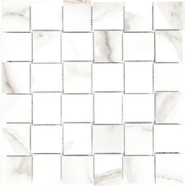 Mayfair Calacatta Oro 2x2 HD Basketweave Polished Porcelain Mosaics (69-904)