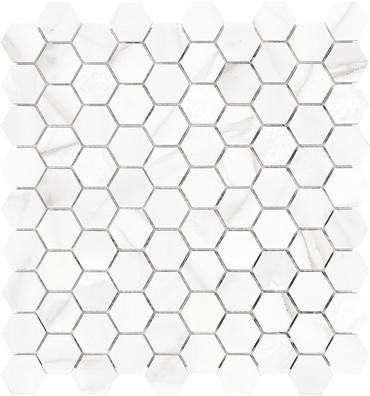 Mayfair Volakas Grigio 1.25x1.25 HD Hexagon Polished Porcelain Mosaics (69-924)