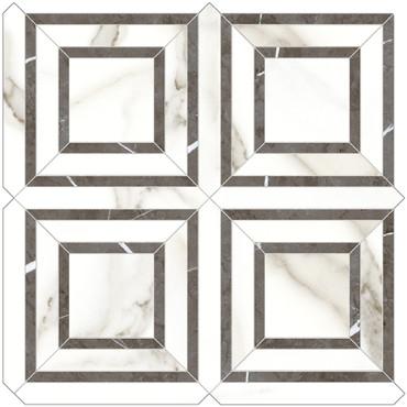 Mayfair Calacatta Oro Piazza HD Polished Porcelain Mosaics (69-969)