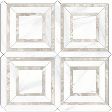 Mayfair Volakas Grigio Piazza HD Polished Porcelain Mosaics (69-971)