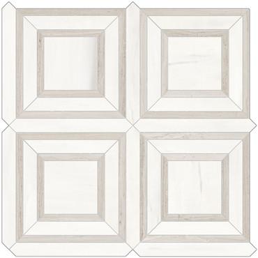 Mayfair Suave Bianco Piazza HD Polished Porcelain Mosaics (69-974)