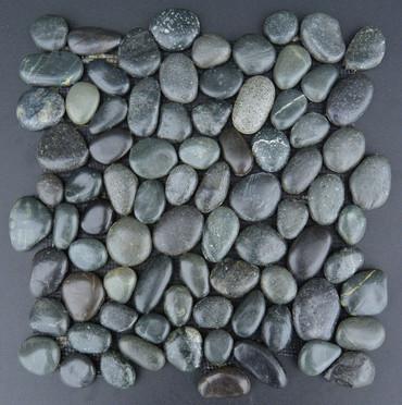 Pebbles Sumatra Black 12x12 Seamless Interlocking (TOEPEBSUMBLA1212)