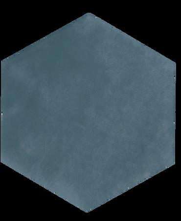 Maiolica Blue Steel 7x8 Hexagon Wall Tile (MAIW641-78H)